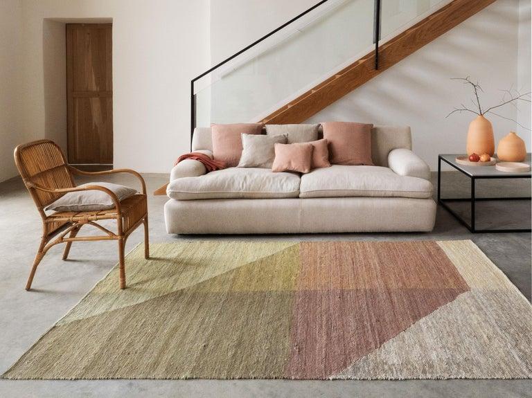 Wool Nanimarquina Capas 4 Standard Rug in Violet by Mathias Hahn For Sale