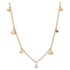 Nanis Bonbon Multi Gemstone 18 Karat Yellow Gold Necklace