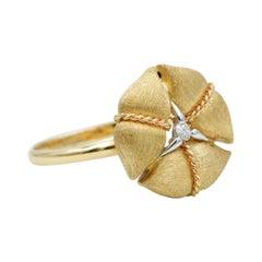 Nanis Diamond Amarcord Ring in 18k Yellow Gold- AS1-571