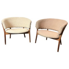 Nanna Dietzel Lounge Chairs, Danish Modern