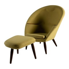 "Nanna Ditzel and Jorgen Ditzel, ""Oda"" Lounge Chair and Ottoman, Denmark"