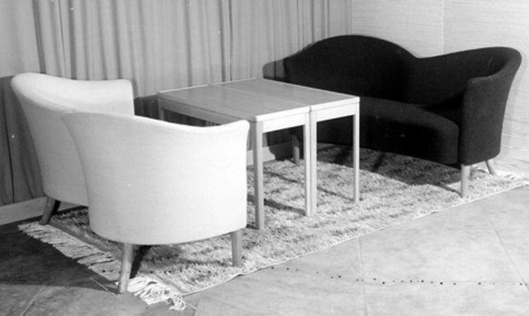 Nanna Ditzel 'Attribution' Pair of Sofas/Loveseats, Sheepskin, Beech For Sale 6
