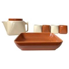 Nanna Ditzel Ceramic Tea Service for Søholm, 1970s