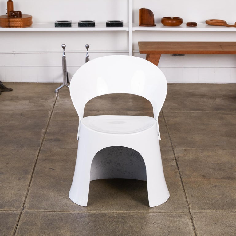 Scandinavian Modern Nanna Ditzel Fiberglass Accent Chair by Odense For Sale