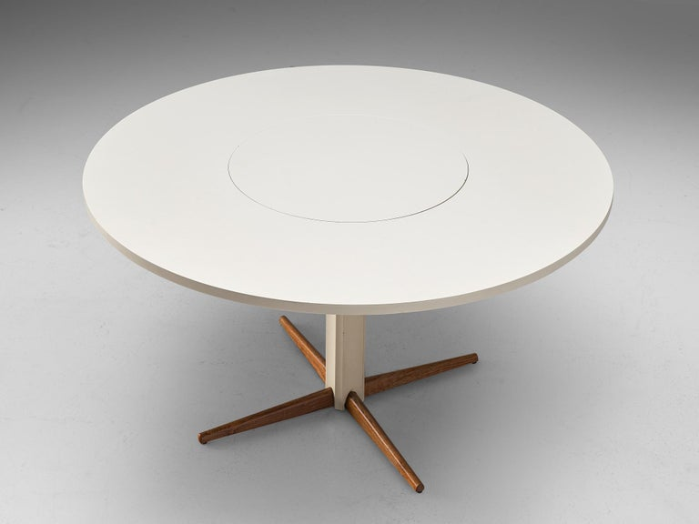 Danish Nanna Ditzel for Kolds Savvaerk Round Pedestal Table For Sale