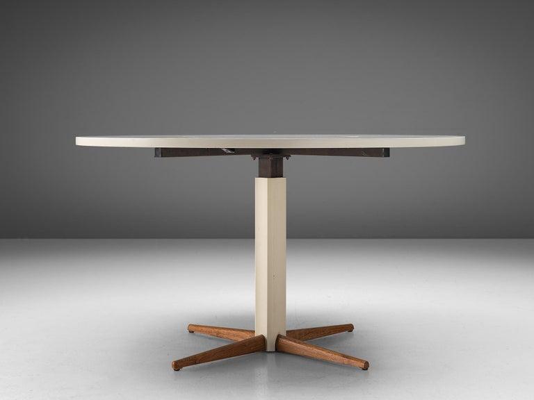 Lacquered Nanna Ditzel for Kolds Savvaerk Round Pedestal Table For Sale