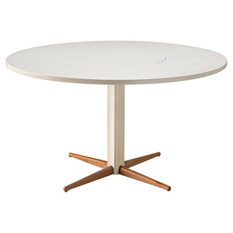 Nanna Ditzel for Kolds Savvaerk Round Pedestal Table For Sale