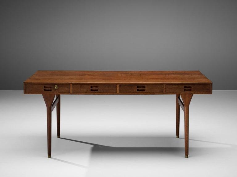 Mid-20th Century Nanna Ditzel for Søren Willadsen Møbelfabrik Desk 'ND 93' in Teak For Sale