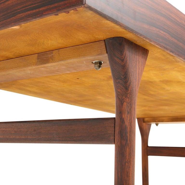 Nanna Ditzel & Jorgen Ditzel Rosewood Four Drawer Desk, Denmark, 1950s For Sale 4