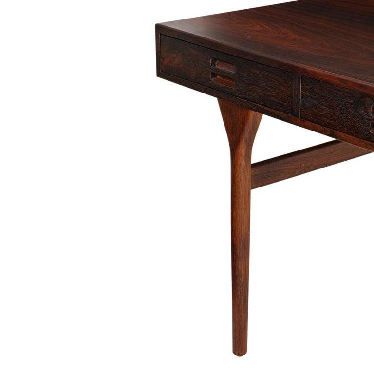 Danish Nanna Ditzel & Jorgen Ditzel Rosewood Four Drawer Desk, Denmark, 1950s For Sale