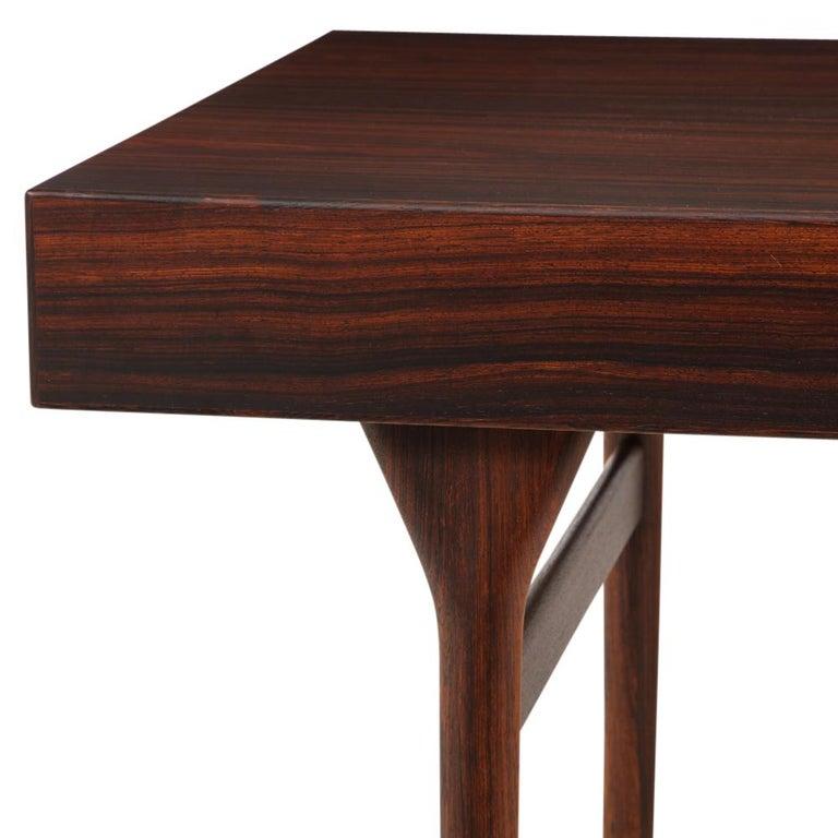Mid-20th Century Nanna Ditzel & Jorgen Ditzel Rosewood Four Drawer Desk, Denmark, 1950s For Sale
