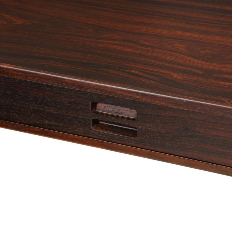 Nanna Ditzel & Jorgen Ditzel Rosewood Four Drawer Desk, Denmark, 1950s For Sale 1