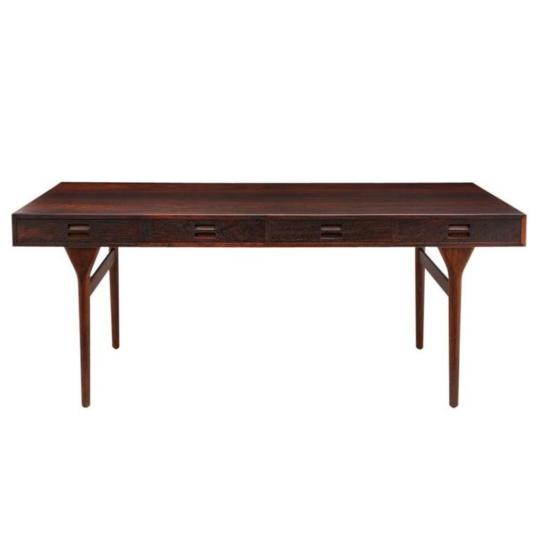 Nanna Ditzel & Jorgen Ditzel Rosewood Four Drawer Desk, Denmark, 1950s For Sale