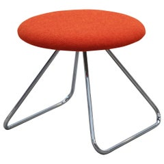 Nanna Ditzel & Jørgen Ditzel, Red Dennie Stool by One Collection