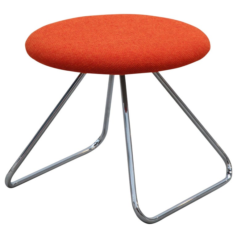 Nanna Ditzel & Jørgen Ditzel, Red Dennie Stool by One Collection For Sale