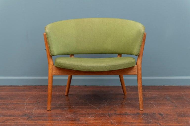 Nanna Ditzel design oak lounge chair for Knud Willadsen, Denmark, 1952.