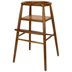Nanna Ditzel Model 115 Midcentury Child's High Chair in Teak, Denmark