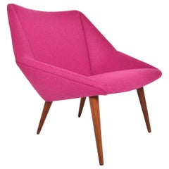 Nanna Ditzel Model 93 Lowback Tux Lounge Chair in Teak
