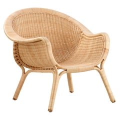 Nanna Ditzel Natural Rattan Indoor Madame Armchair by Sika Design