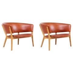 Nanna Ditzel ND-83 Leather Lounge Chairs for Søren Willadsen