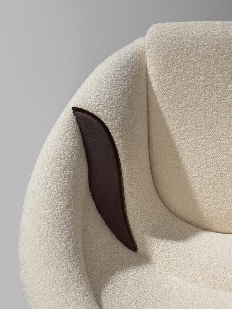 Nanna Ditzel Reupholstered 'Oda-Chair' with Ottoman  For Sale 3