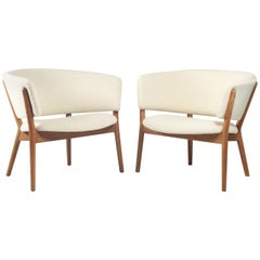 Nanna Ditzel Solid Oak Armchairs Model ND83 for SW Vejen, Denmark, 1950