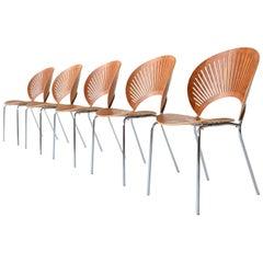 Nanna Ditzel Trinidad 3298 Dining Chairs Fredericia Stolefabrik, Denmark, 1990