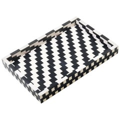 Nannie Tray in White and Black by CuratedKravet