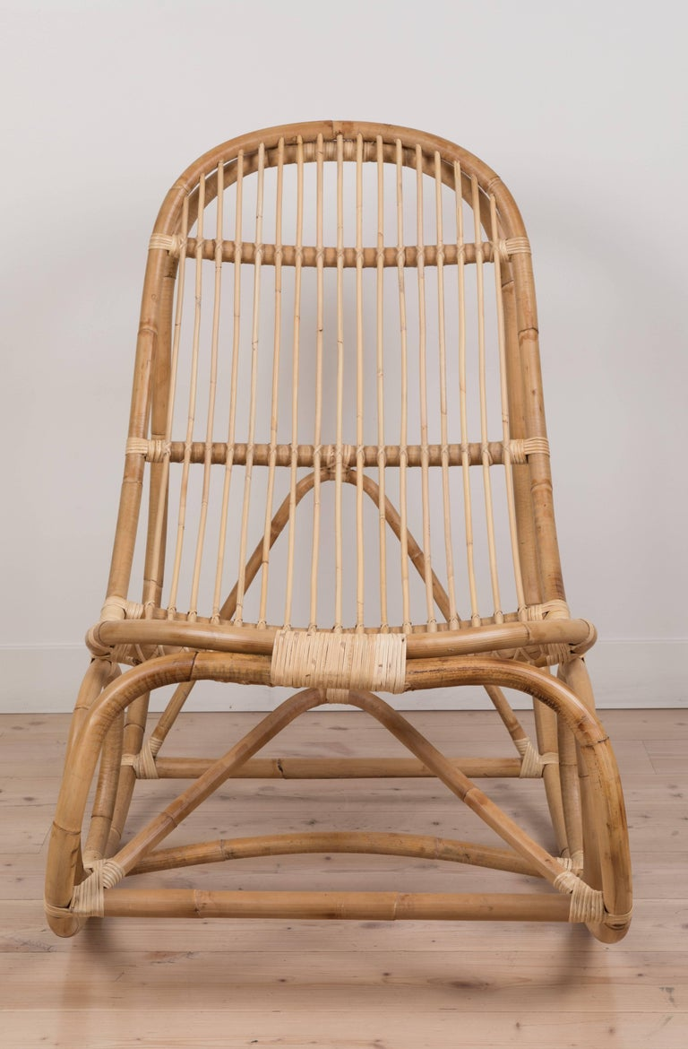 Nanny rocking chair by Nanna Ditzel. Current production by Sika Design available at Lawson-Fenning.