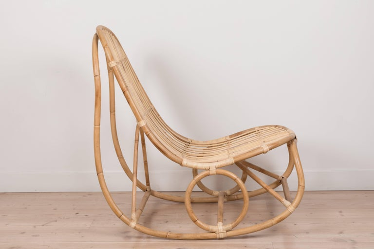 Nanny Rocking Chair by Nanna Ditzel In Excellent Condition For Sale In Los Angeles, CA
