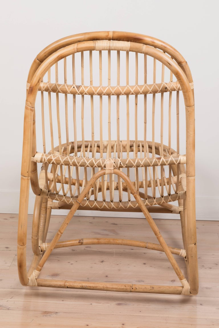 Rattan Nanny Rocking Chair by Nanna Ditzel For Sale