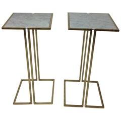 Nantes Side Tables, Model D, Satin Brass by Bourgeois Boheme Atelier