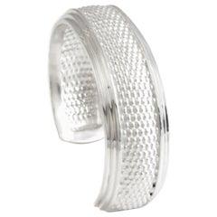 Nantucket Basket Weave Solid Sterling Silver Cuff Bracelet, Diana Kim England