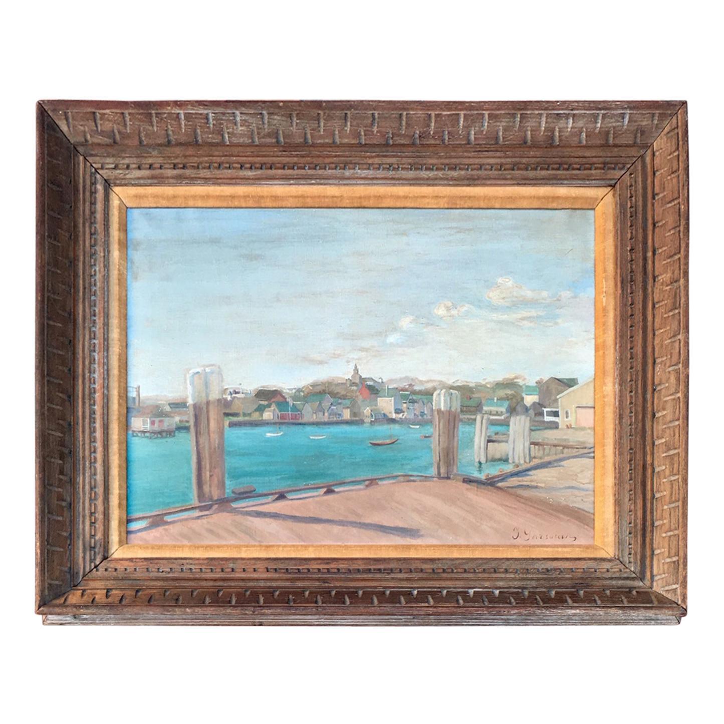 Nantucket Harbor Scene, by Inna Garsoian