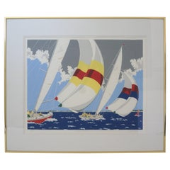 """Nantucket Sailboat Print """"Classic Twelves"""" by Erich Holch"""