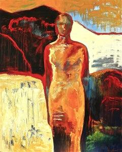 Desert Flower II, Painting, Oil on Canvas