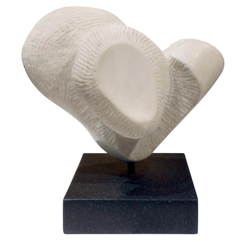 "Naomi Feinberg ""Stretto"" Sculpture in Vermont Marble 1960s"