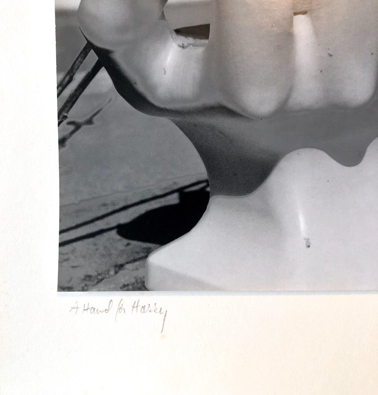 Photo Of Pedro Friedeberg Hand Chair Vintage Silver Gelatin Photograph For Sale 2