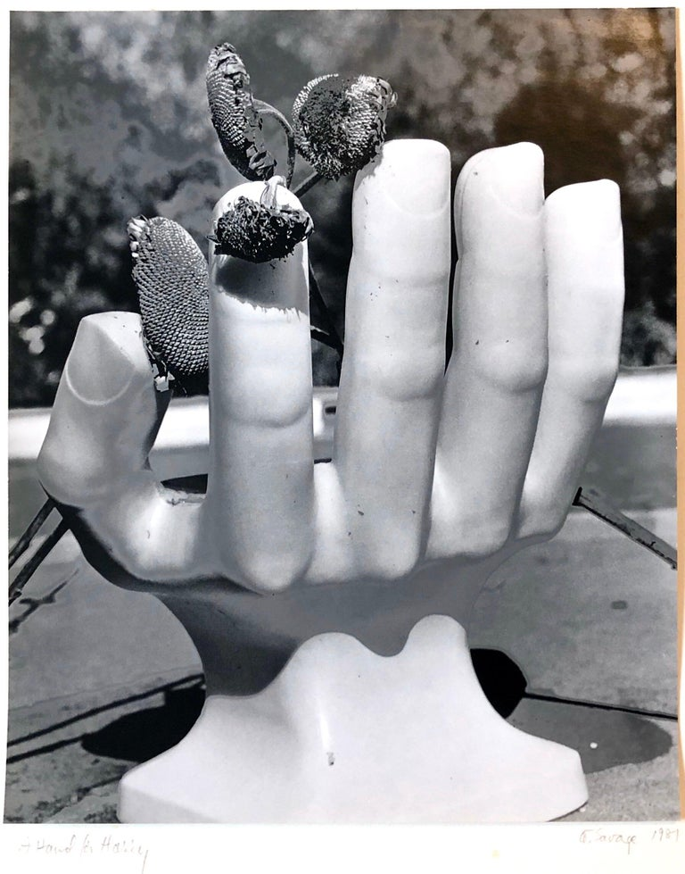Photo Of Pedro Friedeberg Hand Chair Vintage Silver Gelatin Photograph For Sale 3
