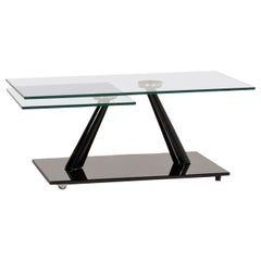 Naos Glass Coffee Table Black Function Extendable Table