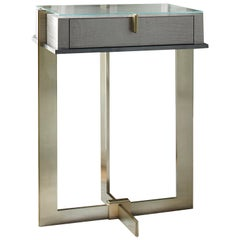 Naos Modern Console Table with Metal Legs and Sycamore Top