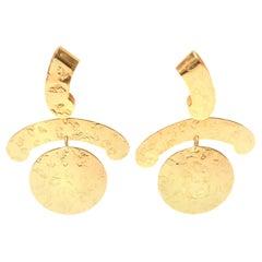 Napier Clip On Sculptural Earrings Vintage