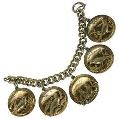 Napier Gilt Song Bird Charm Bracelet