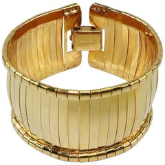 Napier Gold Band Space Age Bangle Bracelet, 1960's