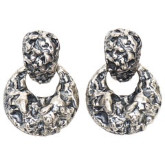 Napier Sculptural Style Screw Back Earrings
