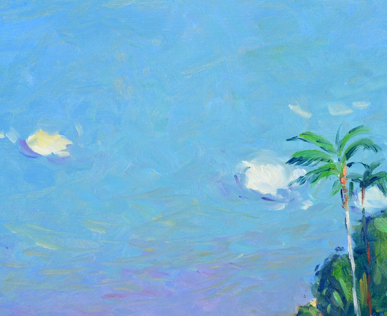 Wood 'Naples Beach, Florida' by Niek Van Der Plas, Well Listed Dutch Impressionist For Sale
