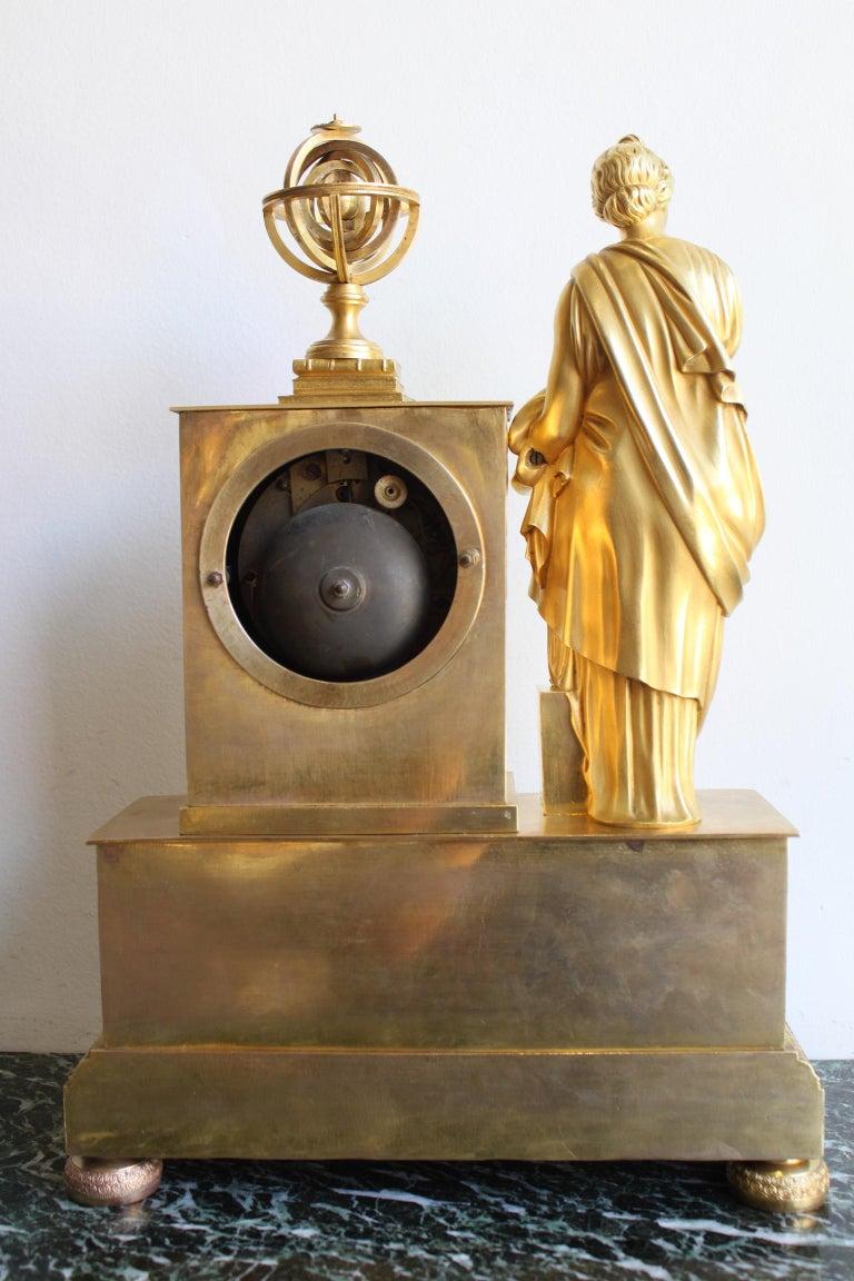 Napoleon 3 Astronomy Bronze Clock For Sale 3