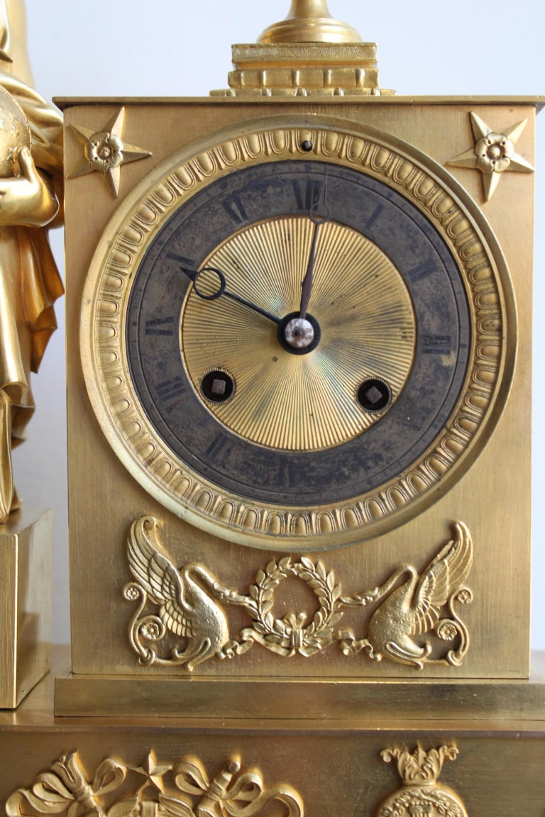 Napoleon 3 Astronomy Bronze Clock For Sale 1
