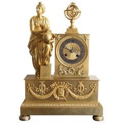 Napoleon 3 Astronomy Bronze Clock