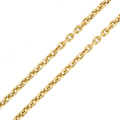 Napoleon 3 French 18 Karat Yellow Gold Massive Long Chain Necklace
